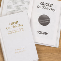 Personalised Cricket This Day Book
