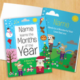 Children Softback Personalised Months of the Year Book
