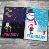 Children Personalised Months of the Year Embossed Classic Hardcover Book