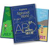 Children Personalised Alphabet World Cmbossed Classic Hardcover Book