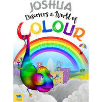 Children Softback Personalised Name Discovers a World of Colour Book
