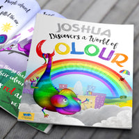 Children Hardback Personalised Name Discovers a World of Colour Book
