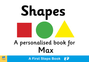 Children Personalised First Steps Shapes Board Book for Toddlers