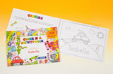 Children Personalised A4 Colour In and Activity Book