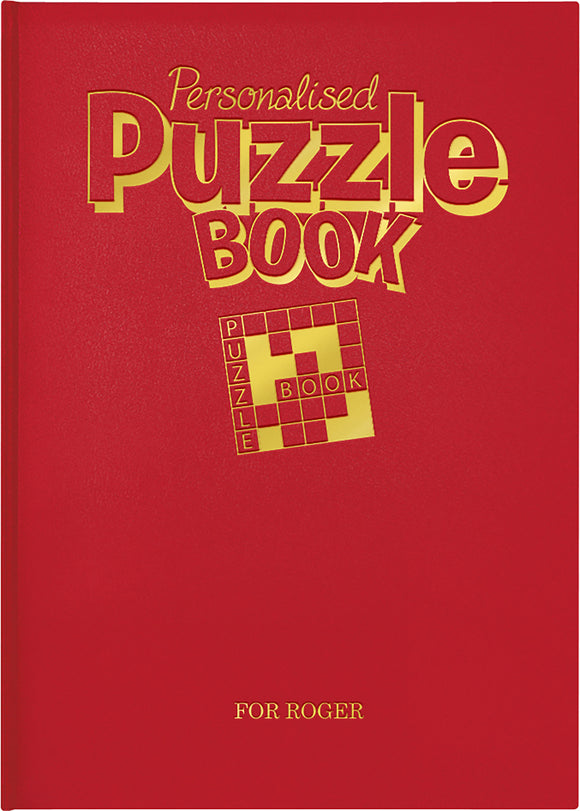 Personalised Puzzle Book A4 Deluxe Version Book