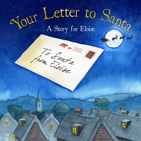Children Personalised Your Letter to Santa Christmas Softback book