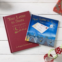 Children Personalised Your Letter to Santa Christmas Embossed Classic Hardback book