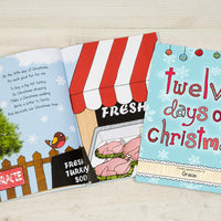 Children Personalised 12 Days of Christmas Softback Book
