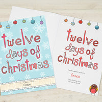Children Personalised 12 Days of Christmas Hardback Book
