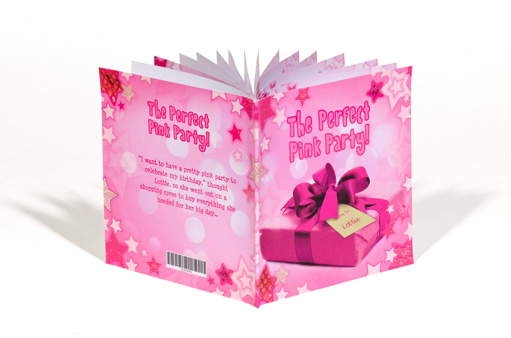 Children Personalised The Perfect Pink Party Softback Book