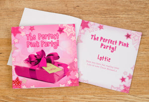 Children Personalised The Perfect Pink Party Hardback Book