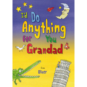 Children Personalised I Do Anything For You Grandad Softback