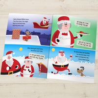 Children Personalised Christmas When Santa Got Stuck Up The Chimney Softback Book