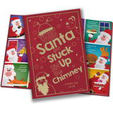 Children Personalised Christmas When Santa Got Stuck Up The Chimney Embossed Classic Hardback Book