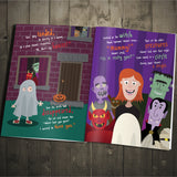 Children Personalised On Halloween Night Hardback Book