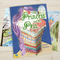 Children Personalised Princess and the Pea Softback Book