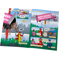 Children Personalised Mega Dad Comic Book Hardback Book
