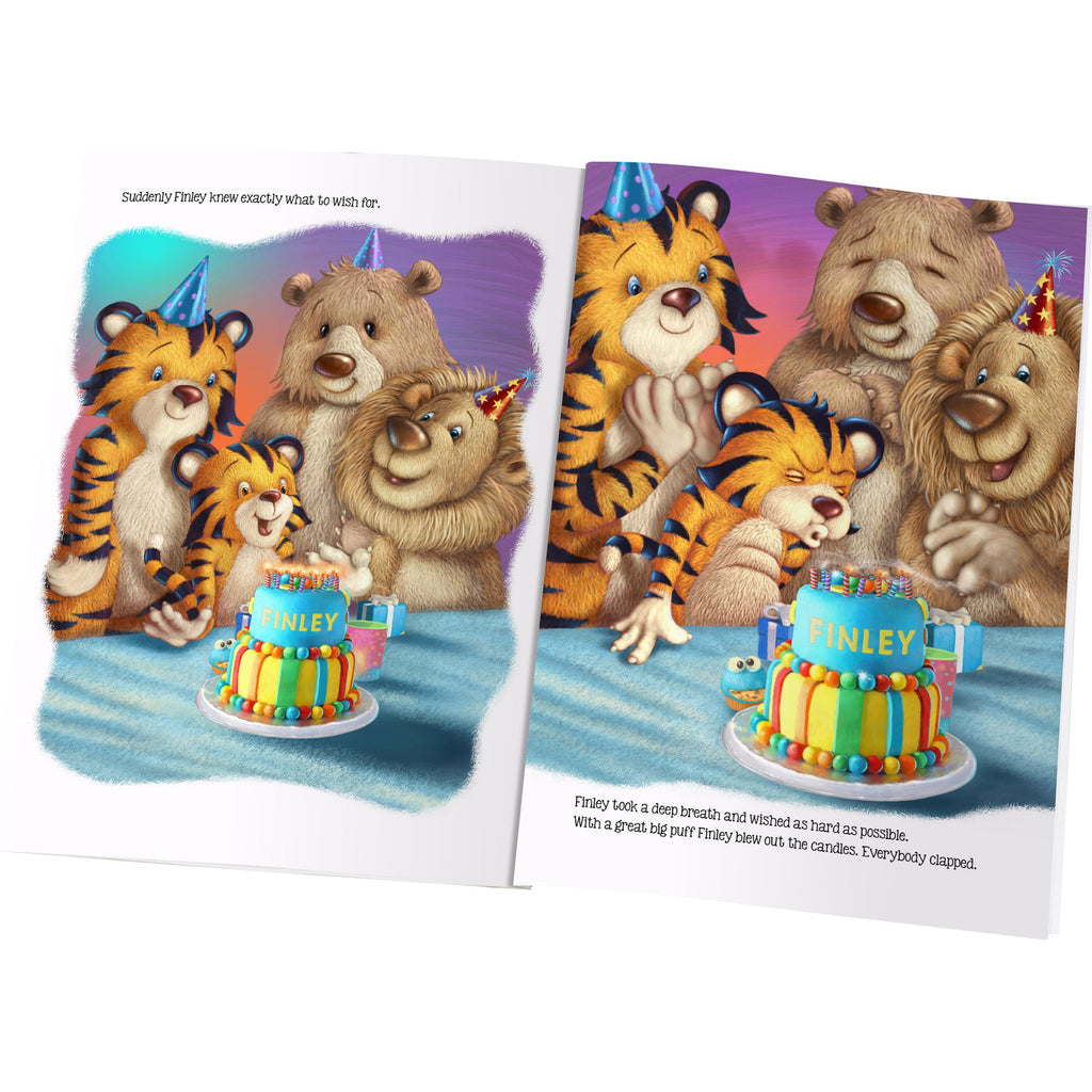 Children Personalised Birthday Wishes Story Hardback Book