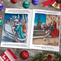 Children Personalised Christmas St Nicholas Traditional Folklore Embossed Classic Hard book
