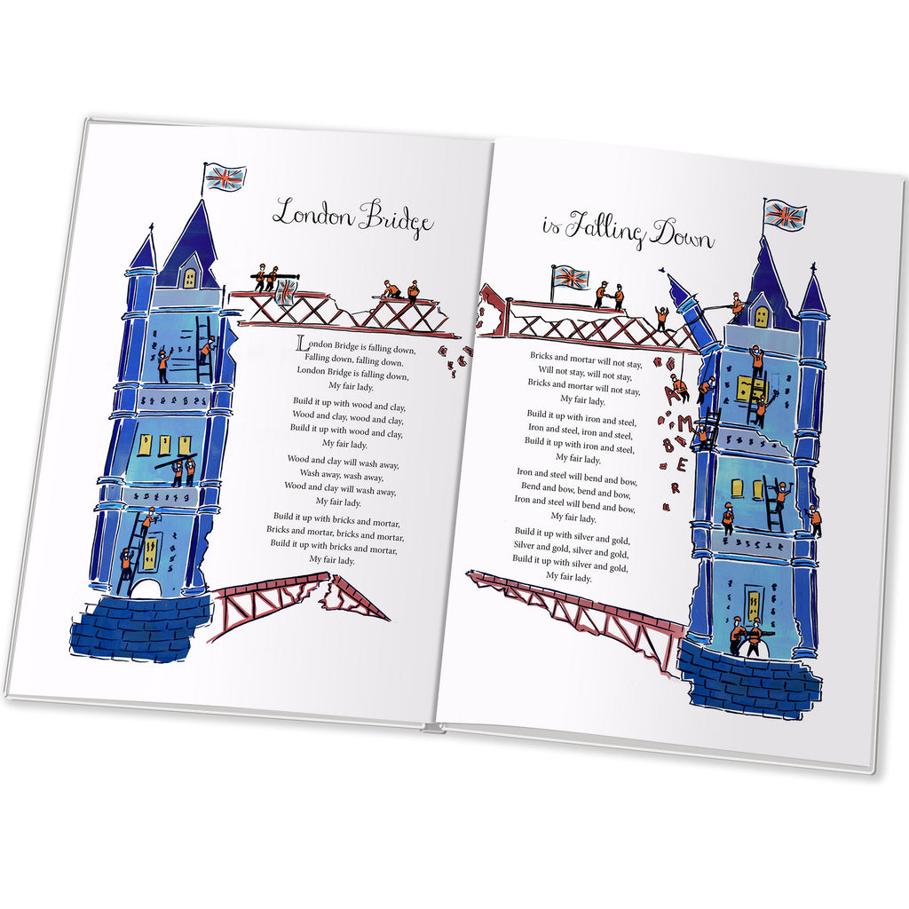 Children Personalised Traditional Nursery Rhymes Hardback Book
