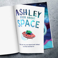 Children Hardback Personalised My Book About Space Book