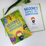 Children Personalised Pet Dinosaur Hardback Book