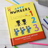 Children Personalised Arty Mouse Numbers Hardback Book