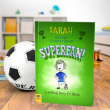 Children Personalised The Football Superfan Softback Book