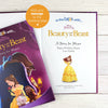 Children Personalised Disney Beauty & the Beast Softback Book
