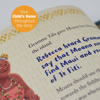 Children Personalised Disney Moana Softback Book