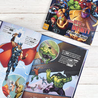 Personalised Marvel Avengers Beginnings from Here to Infinity Softback Book