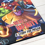 Personalised Marvel Avengers Beginnings from Here to Infinity Hardback Book
