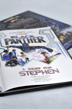 Personalised Marvel Black Panther Softback Book