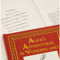 Personalised Alices Adventures in Wonderland Softback Book