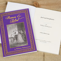 Personalised Romeo & Juliet Hardback Book