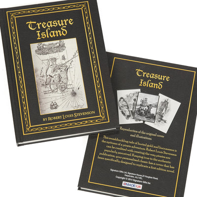 Personalised Treasure Island Hardback Book