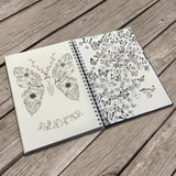 Personalised Adult Creative Colouring Hardback A5 Book