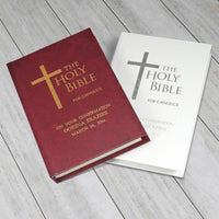 Personalised Catholic Bible Burgundy Cover Book