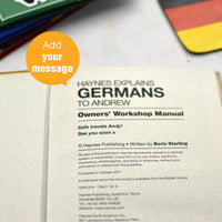 Personalised Haynes Explains Germans Book
