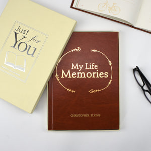 Personalised My Life Memories Personalised Journal Book