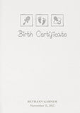 Personalised Birth Certificate Embossed Presentation Holder