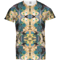 Ladies Tshirt Kaleidoscope Floral Yellow T Design