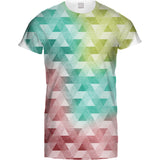 Mens Tshirt Triangle Geometric Coloured Design
