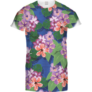 Mens Tshirt Rainforest Flowers Design