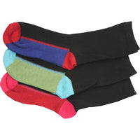 3 x Kids Children Boy Girl Winter Warm Colour Heel Heal Toe Thermal Socks