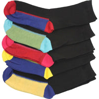 12 x Kids Children Boy Girl Winter Warm Colour Heel Heal Toe Thermal Socks