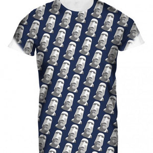 Mens Tshirt Easter Island Sub Navy Design