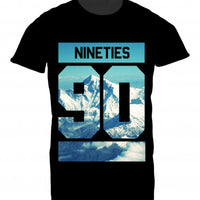 Mens Tshirt Nineties Mountains Design