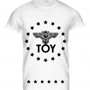 Mens Tshirt Toy Circular Stars Inverted Design