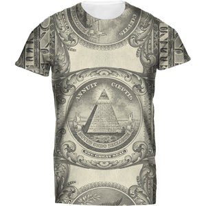 Mens Tshirt All Seeing Eye Black Design